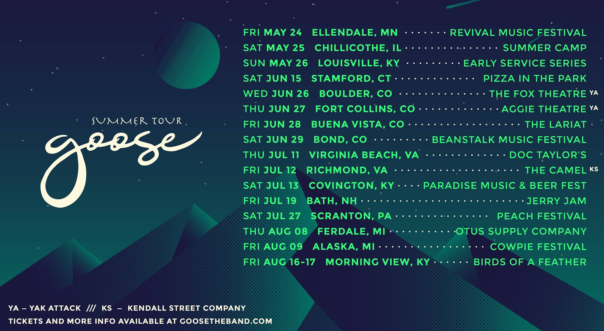 GOOSE Announces Summer Tour Dates and New Show Release